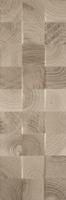 Daikiri Brown Wood Kostki Struktura 25x75