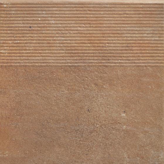 Scandiano Rosso Stopnica Prosta 30x30