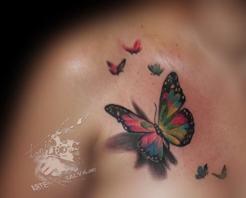 tatuajes pequeños de mariposas realistas 3d valencia