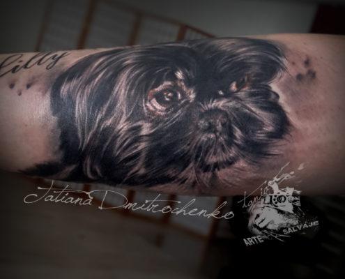 tatuajes realistas de mascotas retratos de perros valencia