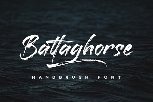 Tipografia Tatuaje Battaghorse Handbrush