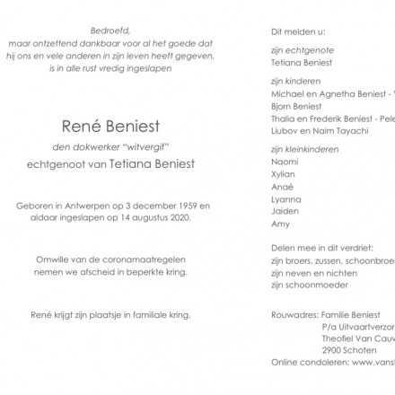 René Beniest