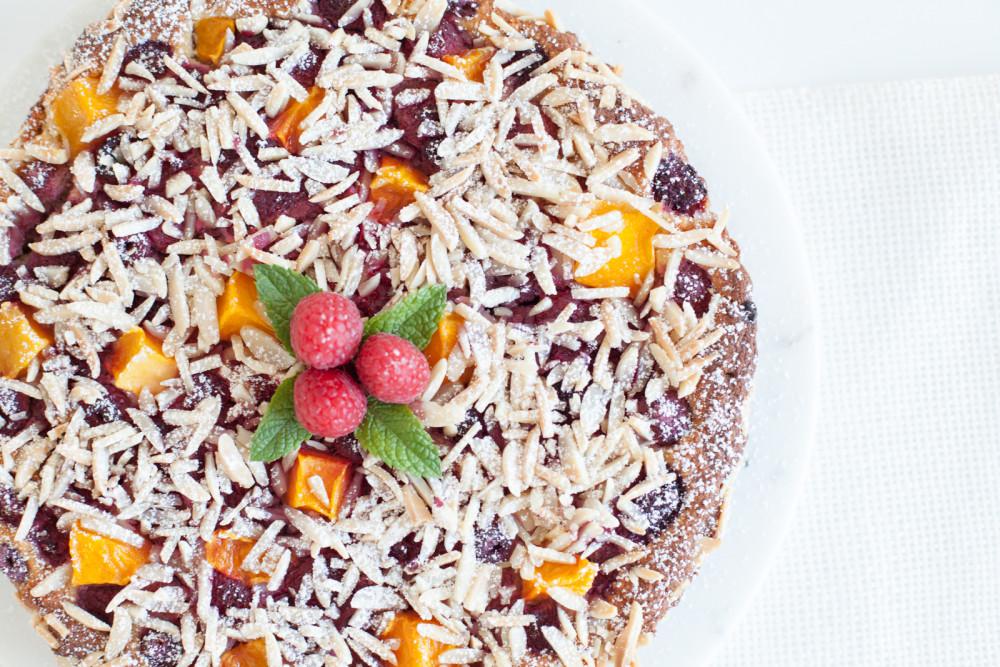Sommerkuchen ohne Reue: Lowcarb Mango-Himbeer-Tarte