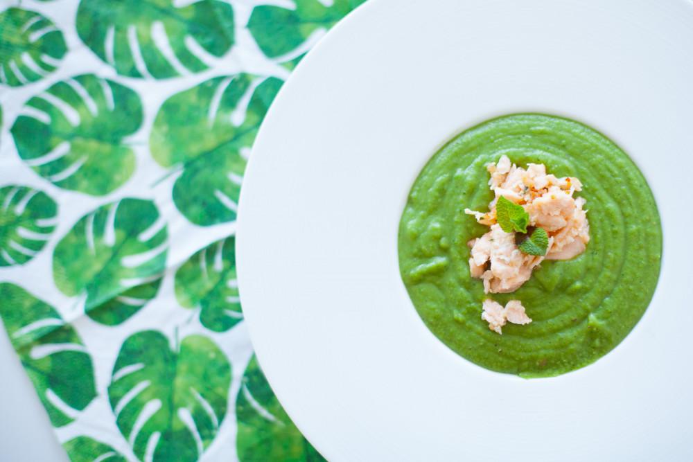Green Protein: Erbsensuppe mit Einlage