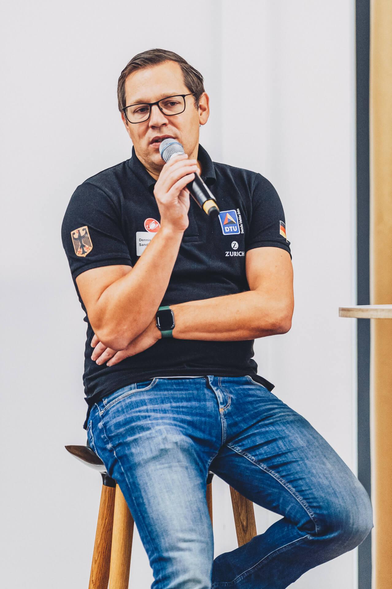 Dennis Sandig beim DTU Leistungssporttag 2020. Foto: DTU