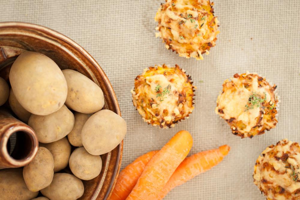 Herzhafte Gemüserösti-Muffins