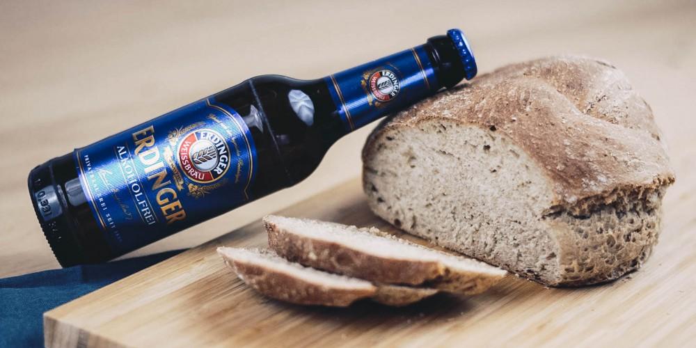 Bierbrot Brot backen mit ERDINGER Alkoholfrei