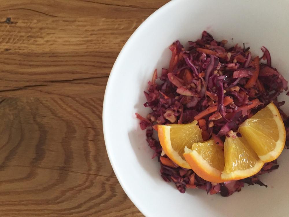 TIME2TRI Rezept-Tipp: winterlicher Rotkohl-Salat