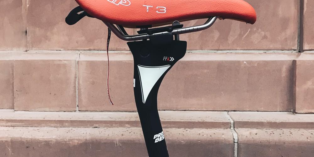 Alles auf aero: die Sattelposition am Triathlonrad