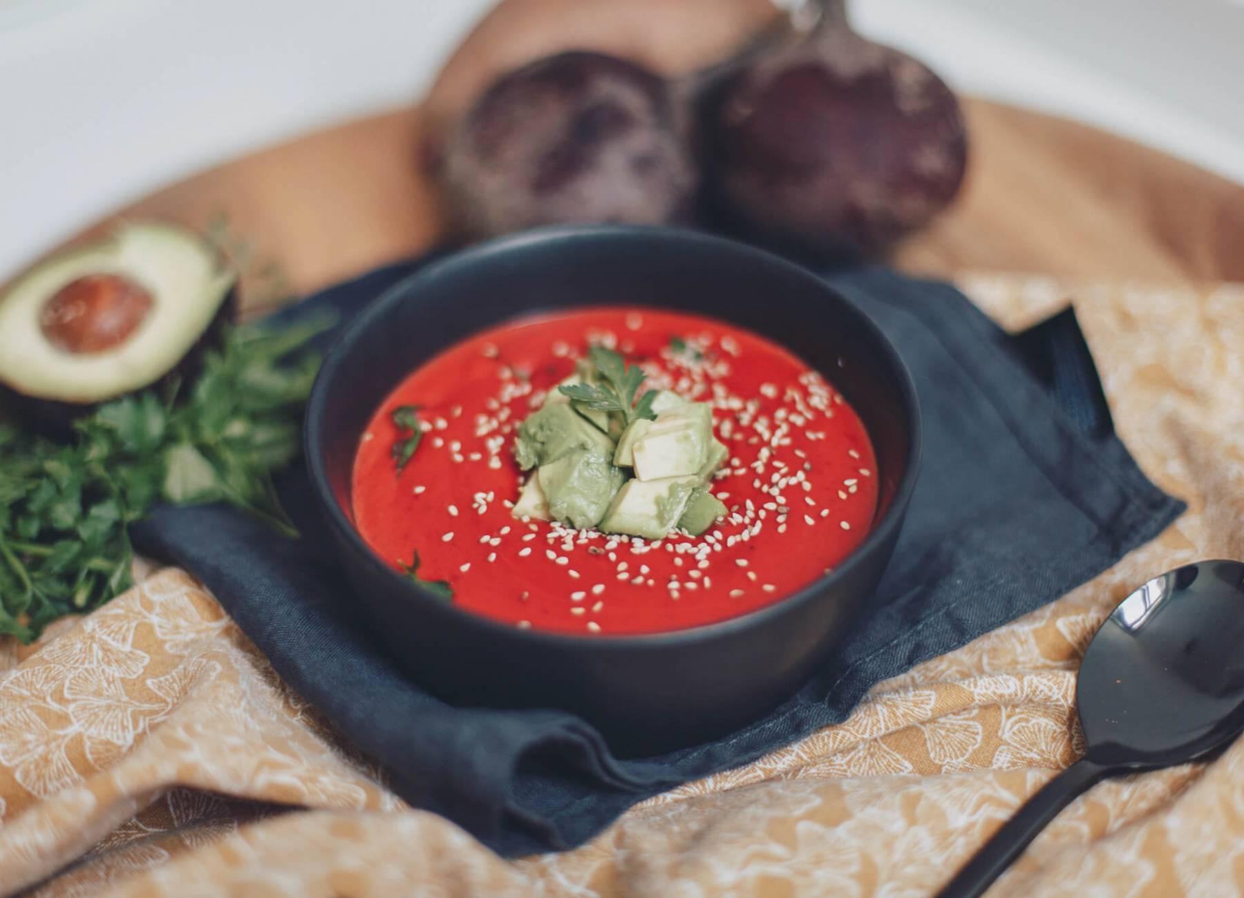 Gegen den Winterblues: Süßkartoffel-Rote Beete-Suppe