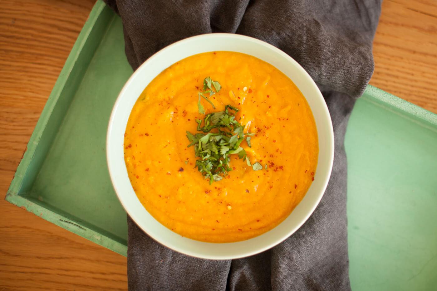Kürbis-Süßkartoffel-Suppe