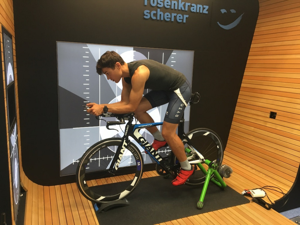 Ab aufs Rad! Rookie Christopher beim Bikefitting