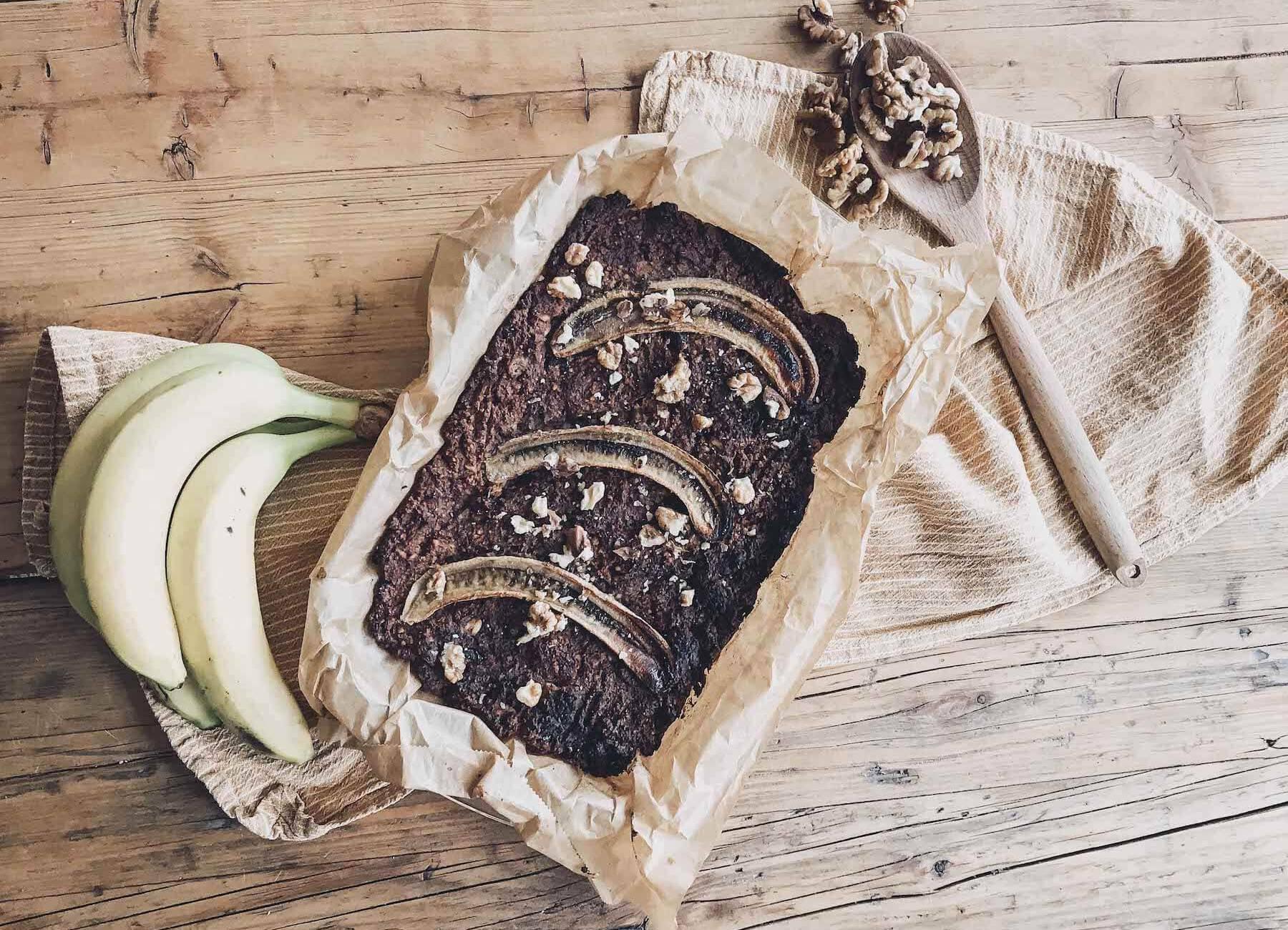 Vegan Beautyboost: Braunhirse Bananenbrot mit Cranberries