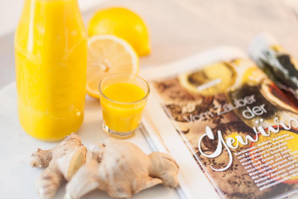 DIY Immun-Boost für kalte Tage: Ingwer-Shots