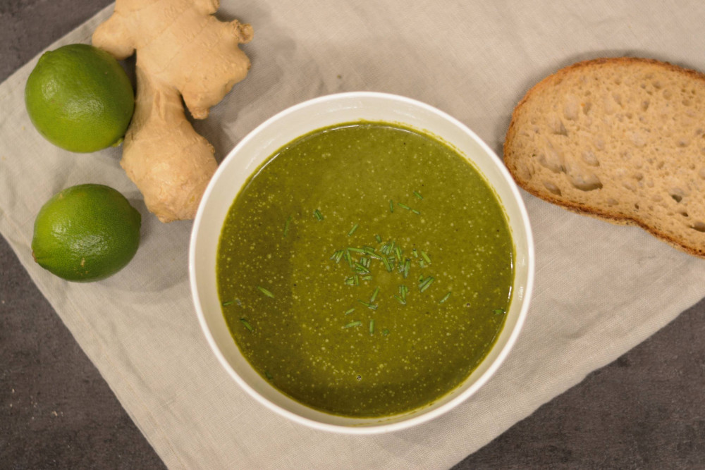 Heute mal Detox? Die Spinat-Limetten-Suppe