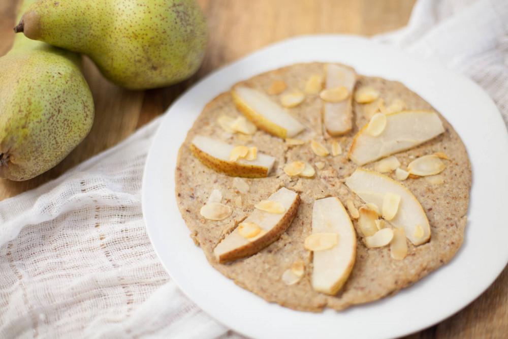 lecker und gesund: Mandel-Birne Pancakes