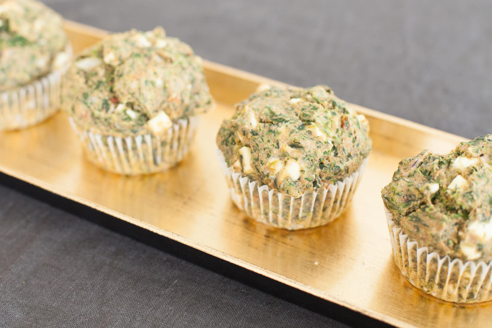 Schnell und gesund: Spinat-Feta-Muffins