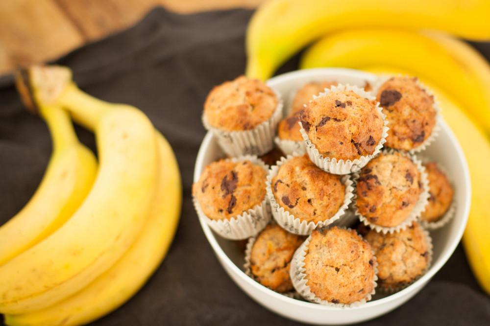 Cleanes Blitzrezept: Banane-Schoko-Muffins