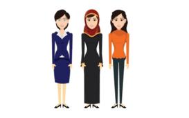 رسم اليستريتور لشخصية فتاه عربية مجهزة للتحريك