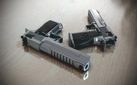 نموذج 3D لمسدس يدوي من نوع Desert Eagle