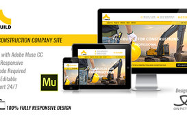 قالب موقع خاص بشركات المقاولات Construction Muse Template