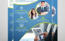 قالب نشرة إعلانية للشركات Corporate Flyer Template Vol.1