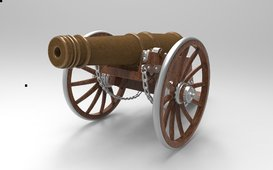 cannon 3d model مدفع رمضان