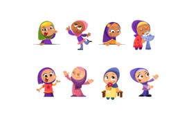 رسومات لفتايات مسلمات Muslim Girls