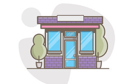 متجر او بيت او مقهى