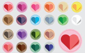 قلوب ملونة ورقية فيكتور Vector Paper Hearts