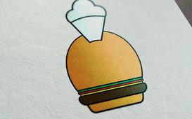 شعار لمطعم وجبات سريعة
