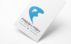 تصميم شعار لمطعم او متجر للأسماك