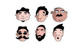 Characters - وجوه شخصيات متنوعة