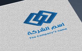شعار لشركة يحتوي على أشكال هندسية 3D