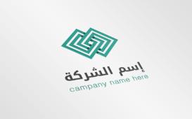 شعار لشركة يحتوي على أشكال هندسية
