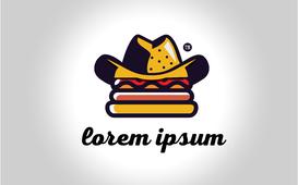 Burger logo شعار يصلح لمطعم برغر