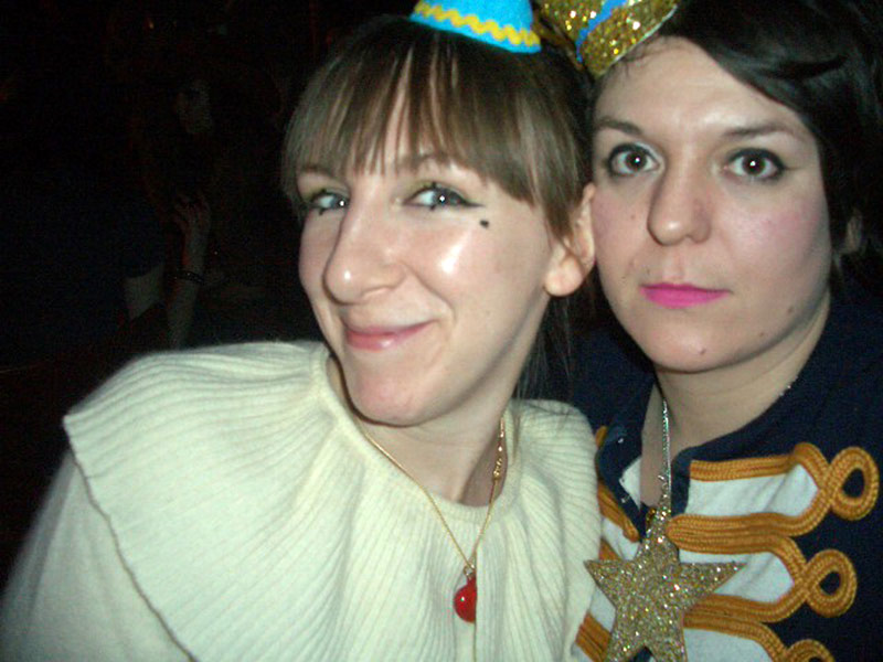 Tatty Devine in clown fancy dress