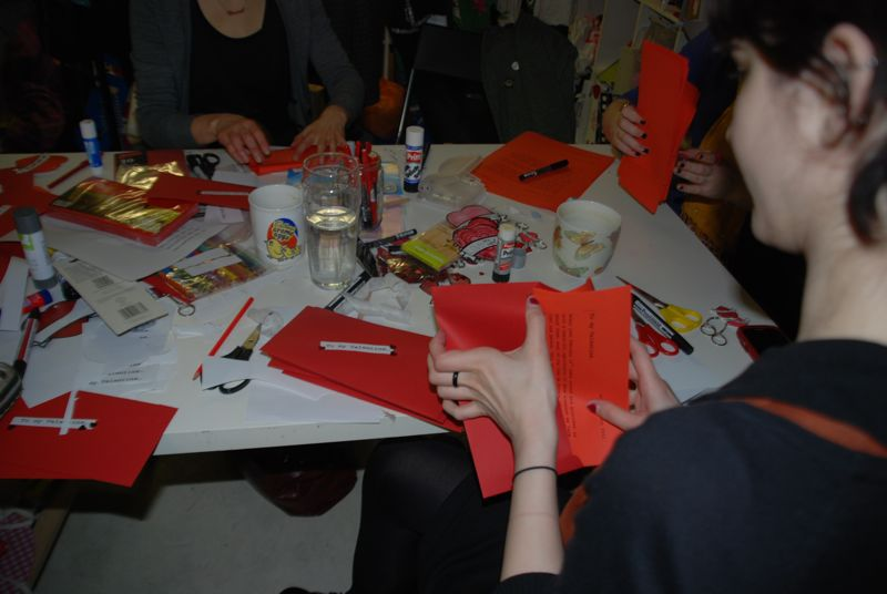 Craftivist Collective alternative Valentines workshop at Tatty Devine