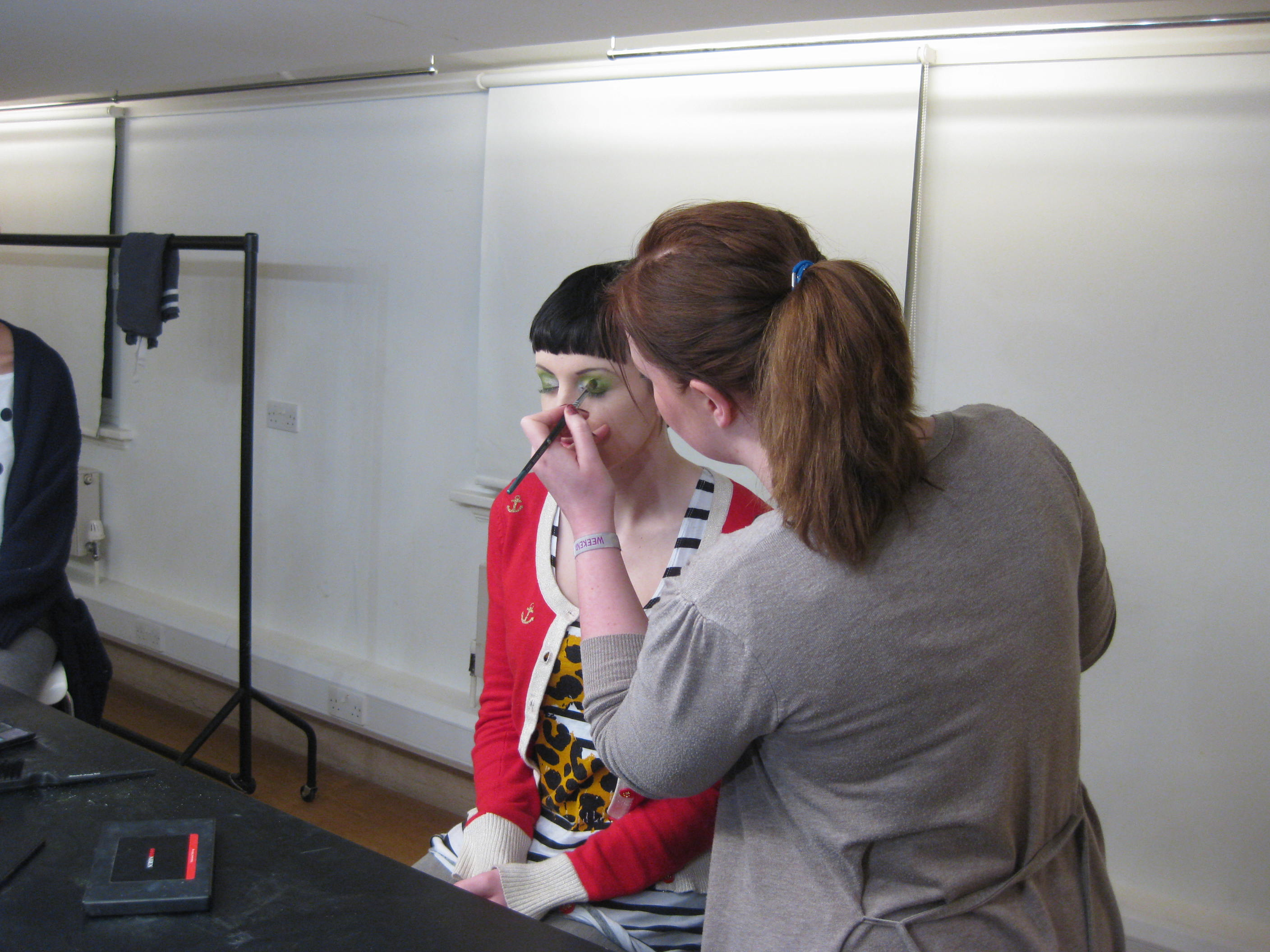 Behind the scenes on the Tatty Devine Name Necklace shoot