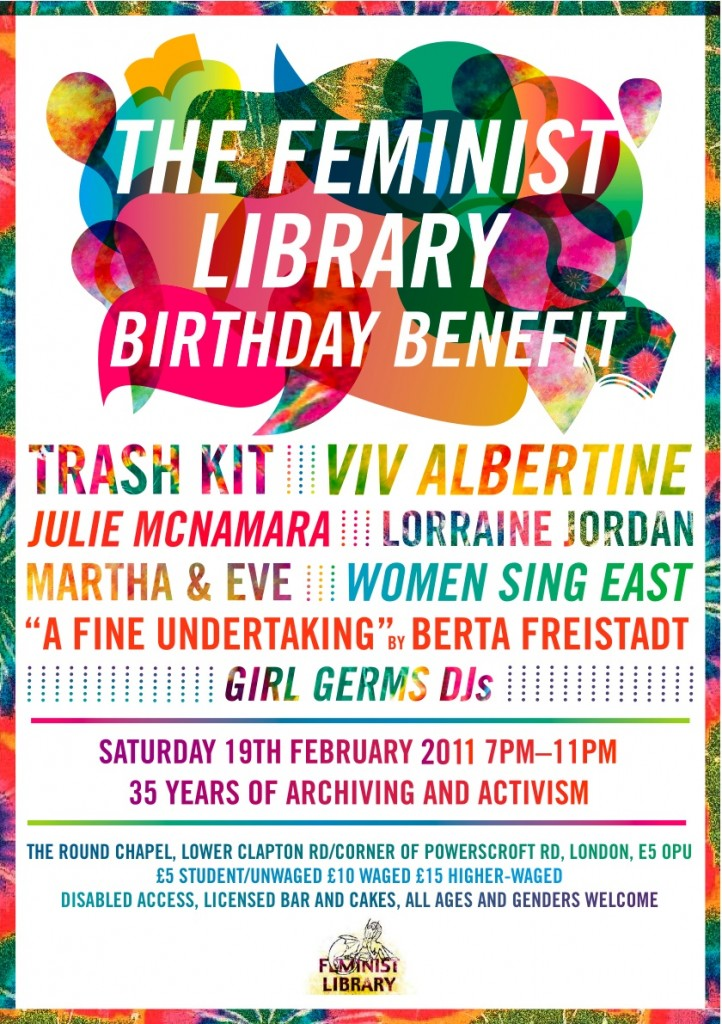 The Feminist Library Birthday Benefit