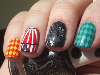 circus nail art