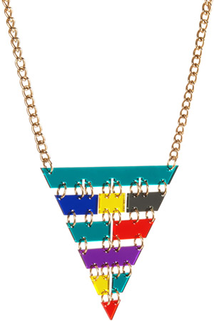Pyramid Inverted Necklace