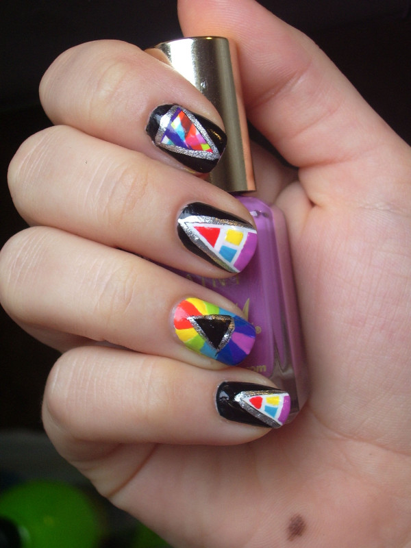 Tatty Devine pyramids nail art