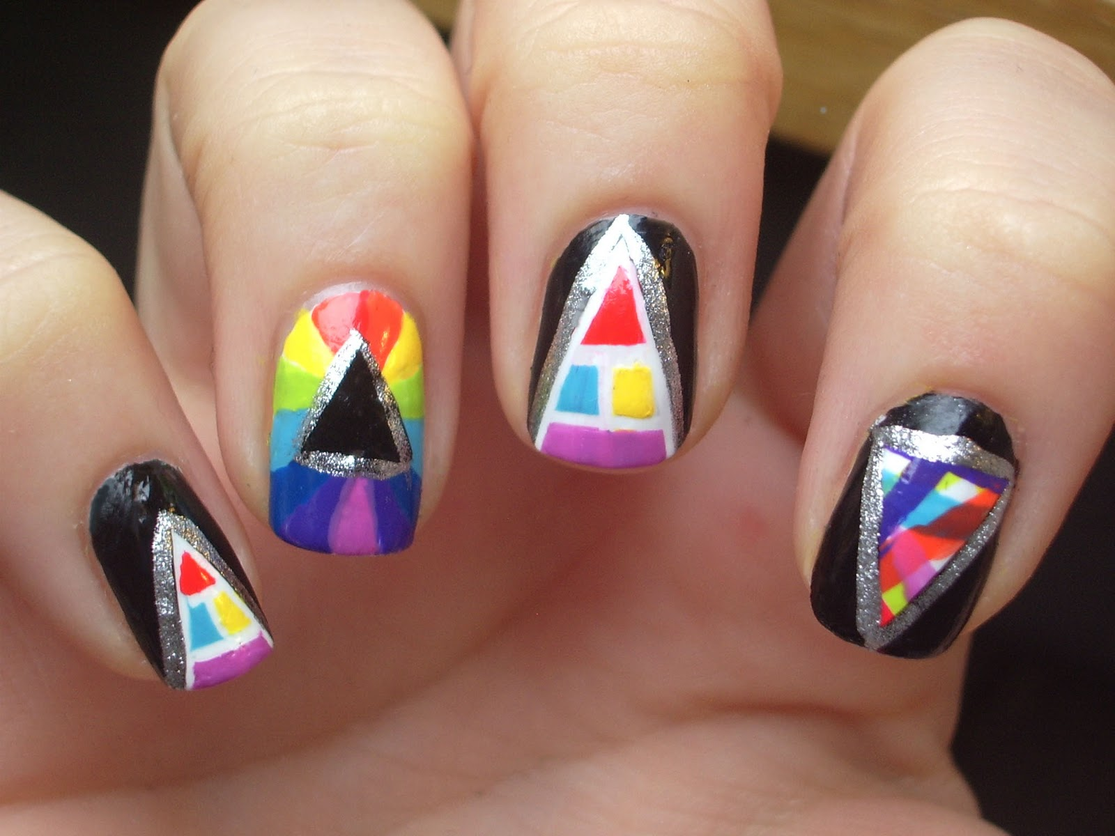 Tatty Devine pyramid nail art
