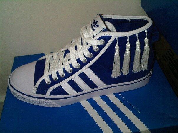 Adidas tasselled trainers