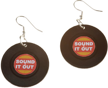 Sound It Out Record Earrings