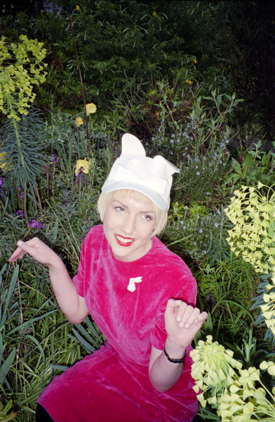 Bernstock Speirs Bunny Cap on a Tatty Devine photoshoot