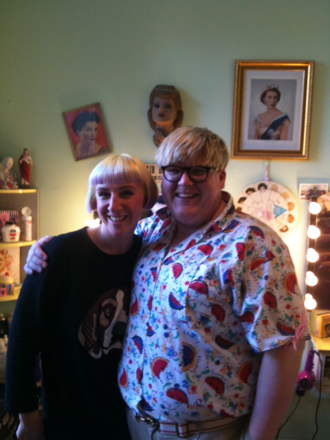 Harriet Vine and Sami from Nina's Hair Parlour