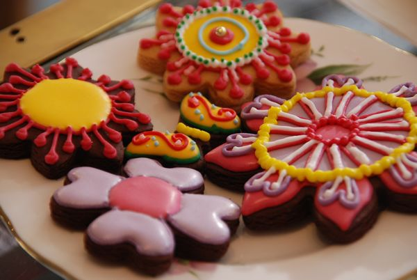 Flower Biscuits from the Biscuiteers at Tatty Devine