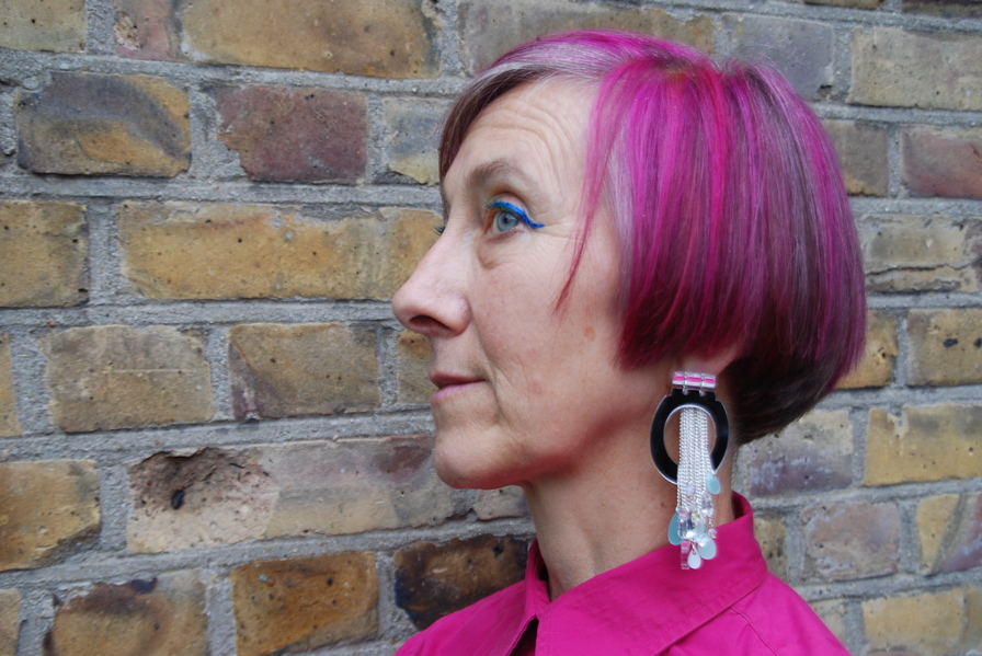 Silvia Ziranek in Tatty Devine Toilet Earrings